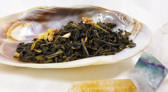 Tea Sample - Elven Mist Tea - Jasmine Lychee Tea - loose leaf green tea