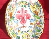 Bright and beautiful vintage hand-painted bowl