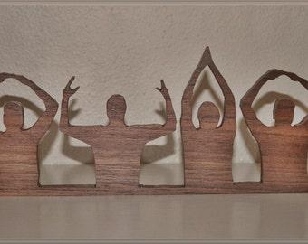 O-H-I-O Ohio State Handmade Wooden Silhouette