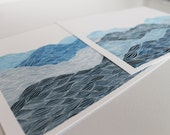 Instant Art Collection: A Pair of Giclee Prints, Watercolor Landscape Design by Keely Finnegan