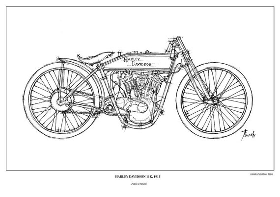 Harley Parts Drawings Harley Davidson 11k 1915