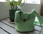 Pastel Green Crochet Purse