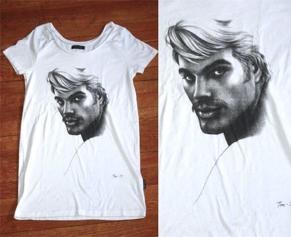 Vintage Print Tom of Finland Tunic T-Shirt