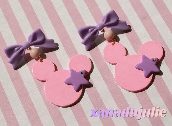 Big Kawaii Mickey Star Earrings