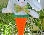 Bunny CROCHET PATTERN Spring Home Decor Buttercup Bunny Door Hanger