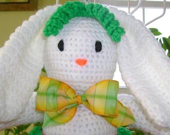 EASY Bunny CROCHET PATTERN Spring Home Decor Buttercup Bunny Door Hanger