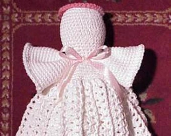 CROCHET PATTERN Easy Beginner Kitchen Angel Bag Holder