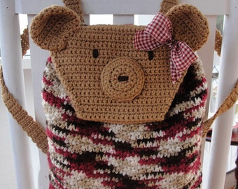 Easy CROCHET PATTERN Quick Beginner Teddy Bear Backpack
