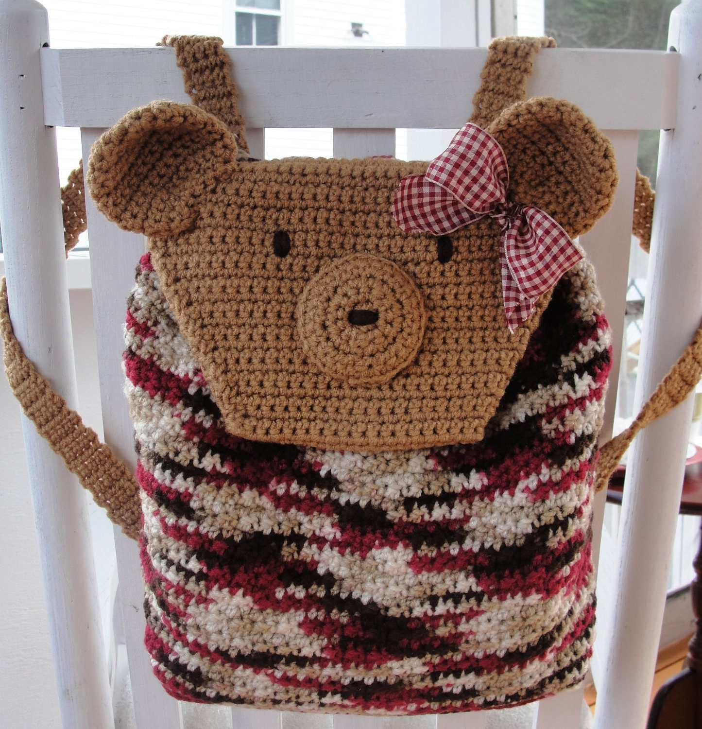 Quick Easy Crochet Patterns For Beginners : Easy CROCHET PATTERN Quick Beginner Teddy Bear Backpack