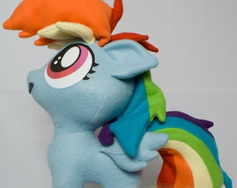 Rainbow Dash Filly, Made-To-Order, Plush, MLP, FiM, Soft, Fleece, Cute