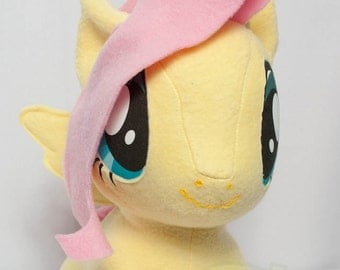 Chibi FlutterShy MLP Hand-Made Custom Craft Plush