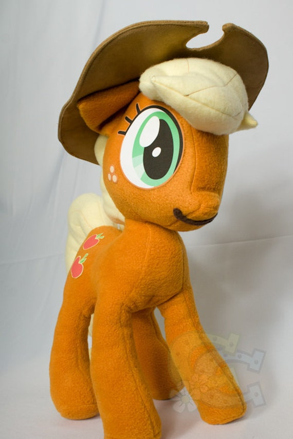 Apple Jack, Made-To-Order, Plush, MLP, FiM, Soft, Fleece, Cute
