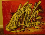 Scrap Heap - 16x20 inch Graffiti Art Stretched Canvas Painting
