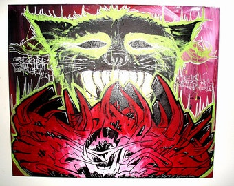 Hellfire - Graffiti 24x20 Canvas