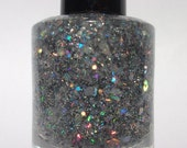 Grease Lightning - Silver Holographic Glitter Nail Polish