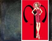 "Aries- fashion Illustration- Greeting Card (5.5""x8"")"