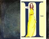 "Gemini- fashion illustration- Greeting Card (5.5""x8"")"