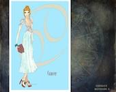 "Cancer -fashion illustration -Greeting Card (5.5""x8"")"