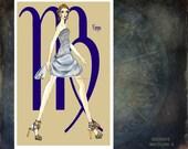 """Virgo- fashion illustration- Greeting Card(5.5""""x8"""")"""