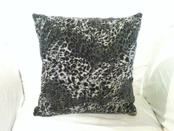 OOAK16x16  Cheetah Patterned Cotton Fleece Accent Pillow