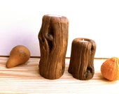 Rustic Wood Candle Holders, Woodworking, Rustic Home Decor, wood, candle holders