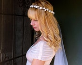 Bridal head piece, wedding headband, wedding veil, bride hair accessories, wedding tiara