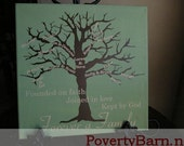 Personalized Family Tree Canvas Art 16x20 Inch