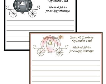Personalized Carriage Bridal Advice Cards - set of 10