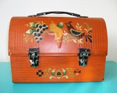 Vintage Domed Metal Lunch Pail