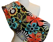 Reversible Pet Sling - Floral Black - Size S/M - PetSlings