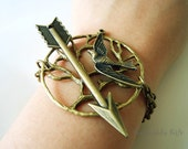 Hunter bracelet,Bird on tree bracelet,double chain charm bracelet BHG02