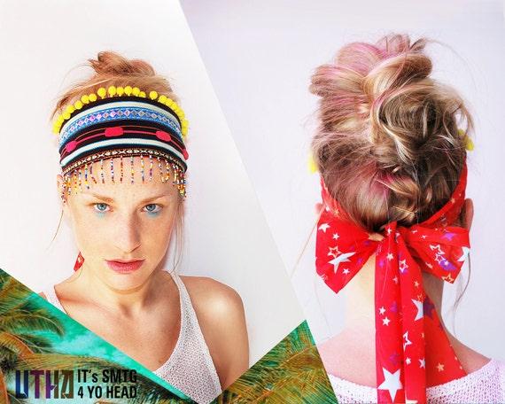 UTHA voodoo headband  ....universal ethnic headband....