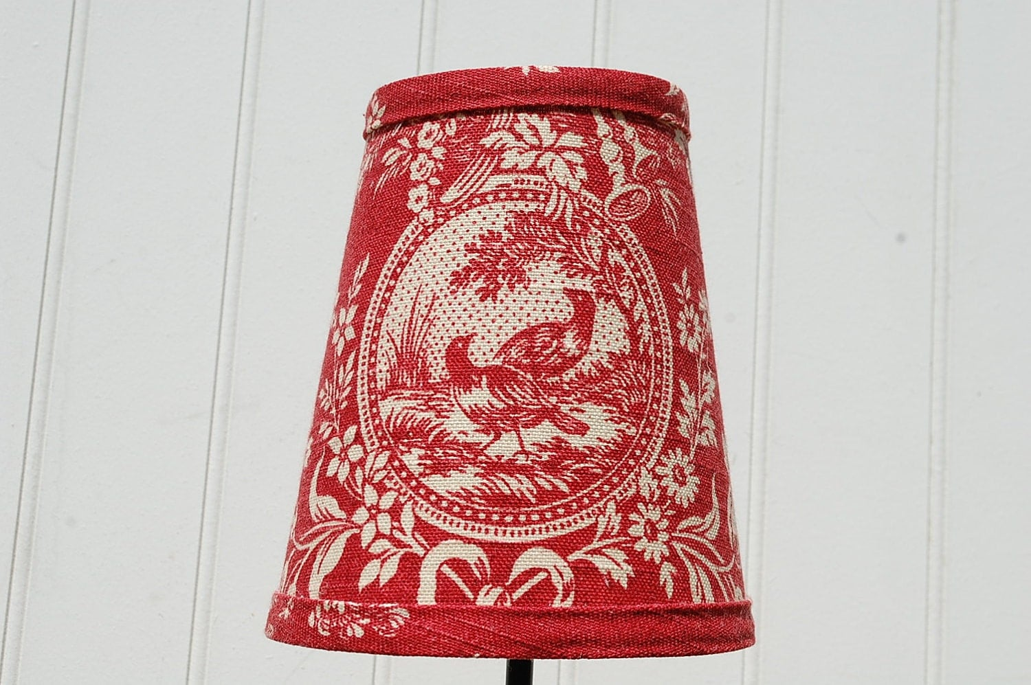 Clip on lamp shade – Toile Chandelier Shades