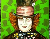 """Mad Hatter Painting 11x14"""" Reserved"""