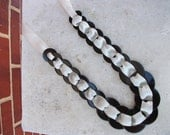 Washer necklace - Cream and Black