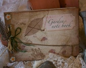 Garden Note Book - handmade in the shabby chic vintage style - Custom