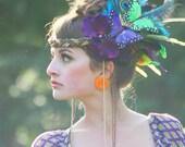 Dhalia Orchid - Bohemia Couture Hair Adornment , Headdress , Costume , Headband , Hat , Headpiece