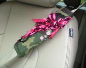 Camo and Hot Pink Seat-Belt Cuff