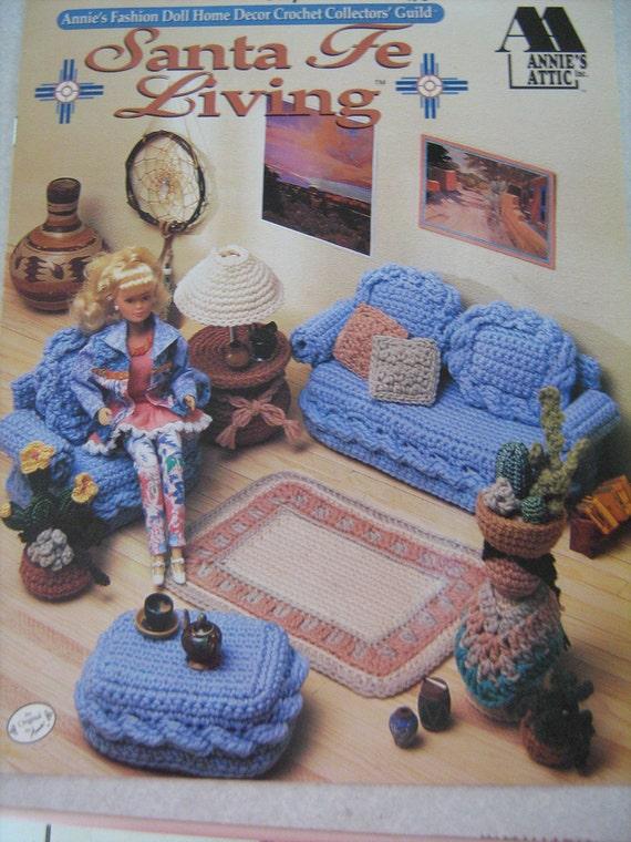 vintage crochet pattern book fashion doll home decor santa. Black Bedroom Furniture Sets. Home Design Ideas