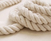CLEARANCE  (5% OFF )5 yards Cotton thread cotton spunyarn rope,Beige White Cotton Piping Cord--PF04