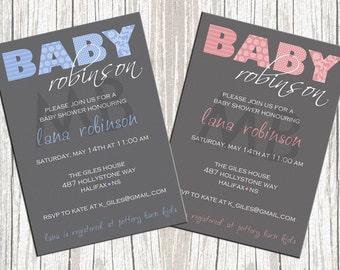 Elegant Baby Shower Invitation - For boy or girl