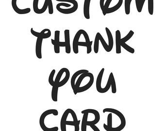 Custom Listing - Coordinating TY Card Order
