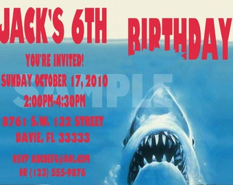 Shark Party Invitation