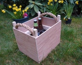 beer/wine crate. bottle storage container