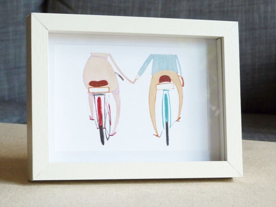 "SALE Happy Bikes Print 6""x8"""