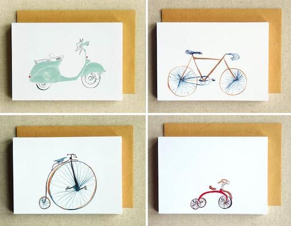 SALE Bikes Bikes Bikes - 8 card set