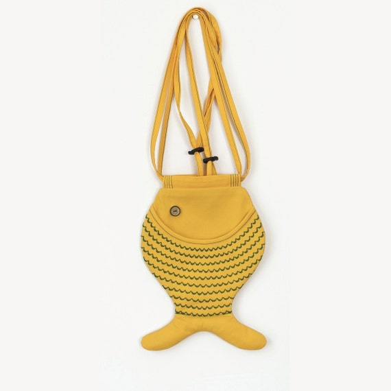 RESERVED FOR FELICIA, Fish Bag Purse, Bright Yellow, Fall Trends, Autumn Fish