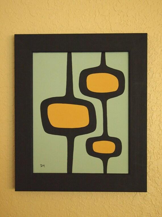 Mid Century Modern, 8 X 10, Original Acrylic Painting