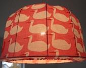 Lampshade, Pendant light DUCKS in Retro fabric