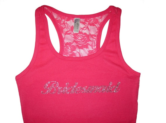Bridesmaid Tank Tops, Bride Tank Top, Lace Tank Top, Bridesmaid Gifts, Will You Be My Bridesmaid, Bachelorette Party Shirts, Wedding Gift